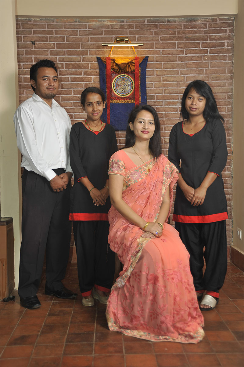 Thagu Chhen is proud to employ local staff for serving the guests and thus letting our guests experience  the essence of the Newar culture