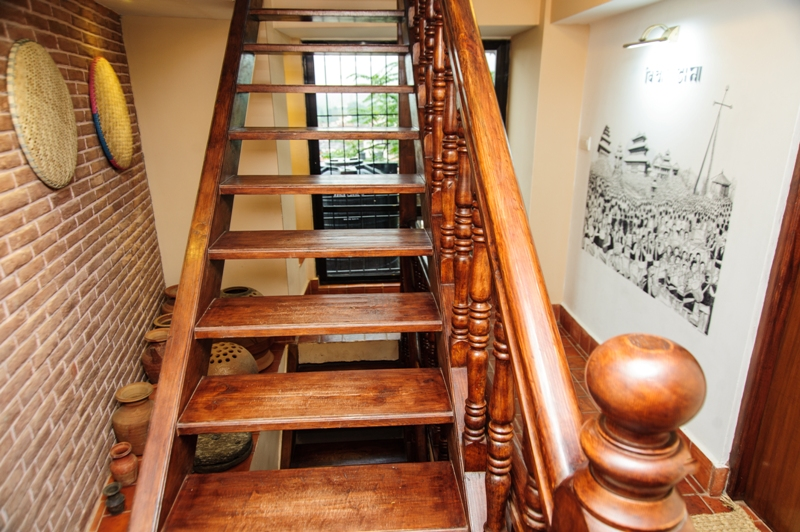 Locally sourced  wooden staircase